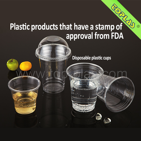 Plastic Disposable Cup Hot Sales Customized Logo Food Grade Transparent