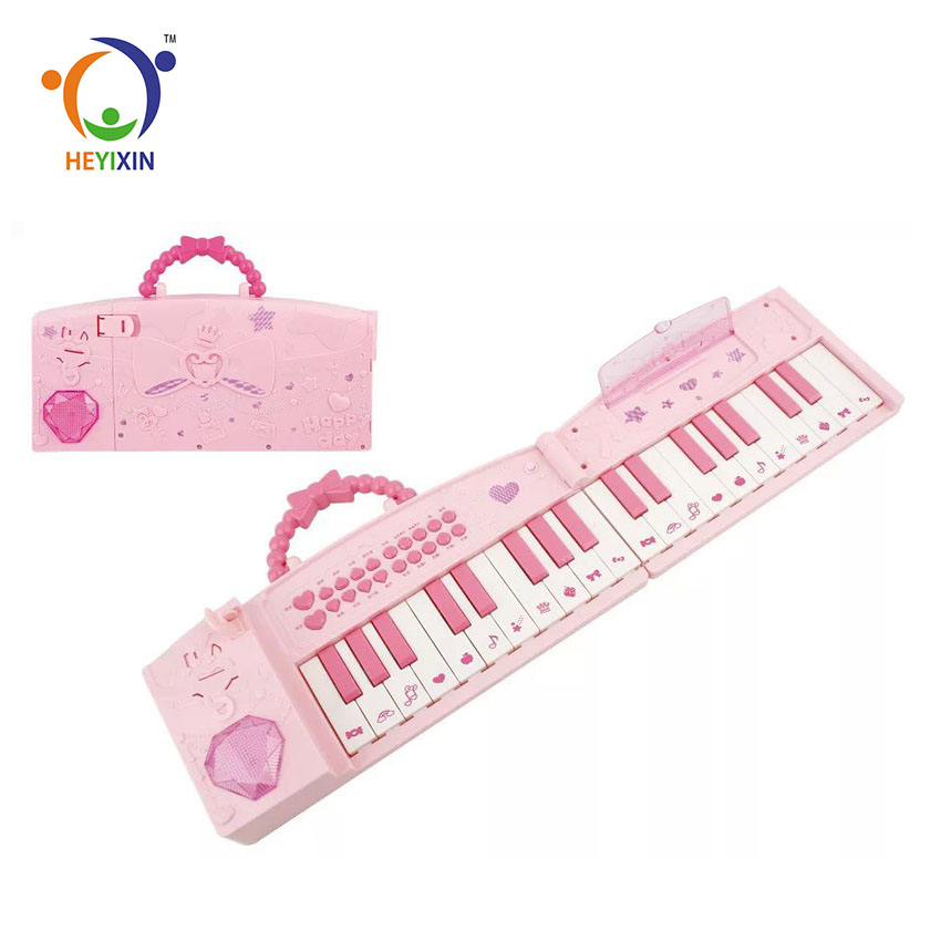 New quality pink fancy kids games piano musical keyboard electronic organ