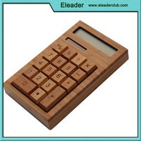 Solar Charge Bamboo Calculator Wood calculator unique