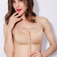Self adhesive Strapless backless Invisible Silicone Bra