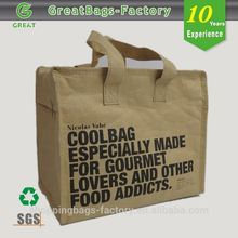 Promotional Zipper Thermal insulated paper bag