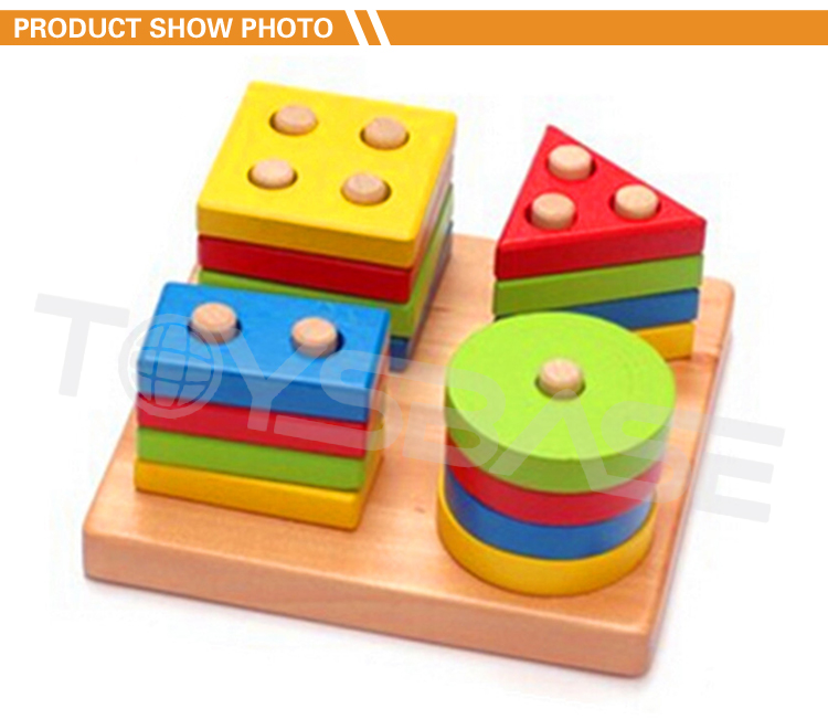 2019 Montessori Toys Baby Wooden Toys Wholesale Color Sorting Juguetes Learning Wooden Toys For Small Kids