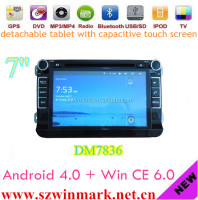 Winmark car radio for Android 4.0+Win CE 6.0 VW MAGOTAN/PASSAT/GOLF with 3G Wifi Multi-touch 3D UI