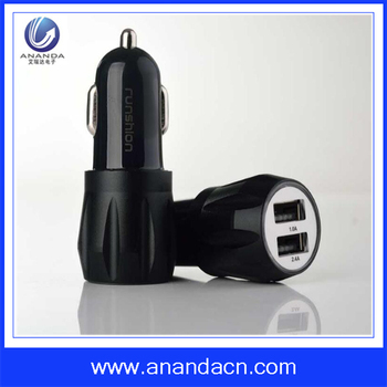 Brand new Aluminium alloy&PC car charger adapter for Smart Phone Tablets