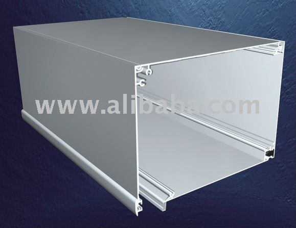 Roller Shutter Box Straight Line for doors and windows with groove for joint covers