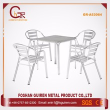China oem manufacturer plush outdoor metal table and chairs