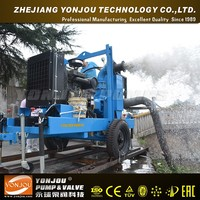 Vacuum assisted Dry priming trash pump with motor and trolley