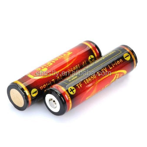 Original Trustfire high capacity 18650 batteries flat top and button top trustfire 18650 battery 3000mah battery 3.7v