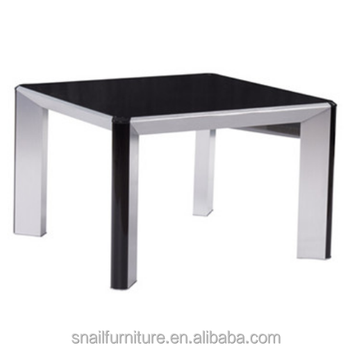 Small Aluminum Coffee Table High End Side Table Mirrored End Table