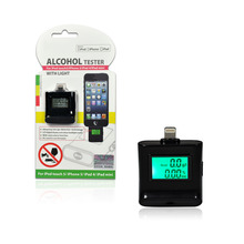 IPEGA for iPhone / iPad Backlight Screen Breath Breathalyzer Alcohol Tester Wholesale