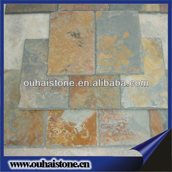 2013 hot sale high quality natural slate sale rusty roofing slate