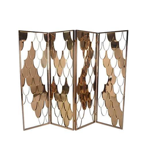 gold color decorative Stainless Steel Room Divider/screen