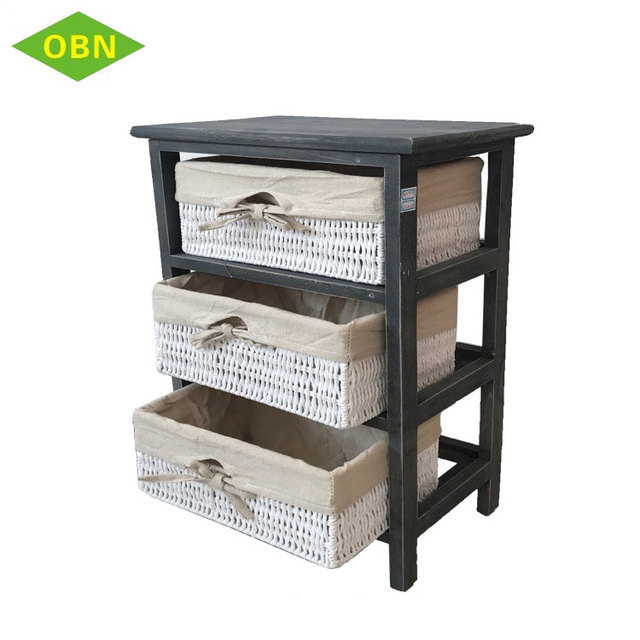 Cheap simple design furniture quilt detachable 3 tier drawer lightweight wooden storage cabinet