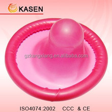 Attractive pink condoms with strawberry flavour