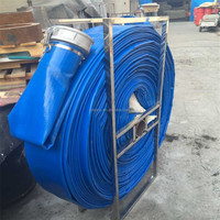 6 inch pvc irrigation lay flat hose for water/slurry pump