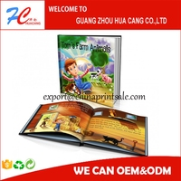 best book printing manufacture in Guangzhou, hardcover/softcover book forkid's story