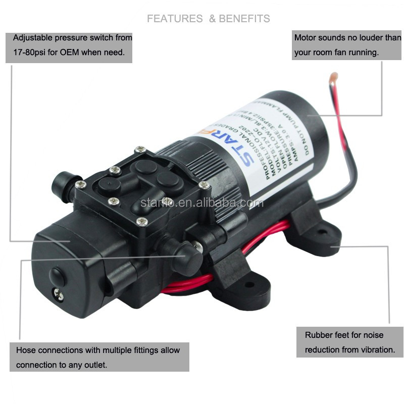 STARFLO FLO-2202 small electric power diaphragm sprayer pesticide water pumps for agriculture