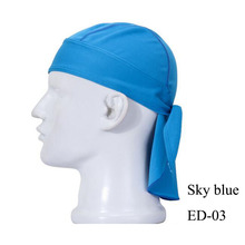 Solid color motorcycle riding bandana outdoor sport cap pirate hat