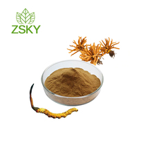 Natural Cordyceps Militaris Extract Powder from GMP manufacturer