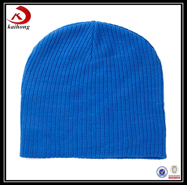 winter warm many colors blue adults custom knitted cap