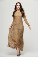 high quality lace dress Kaftan muslim evening dress abaya