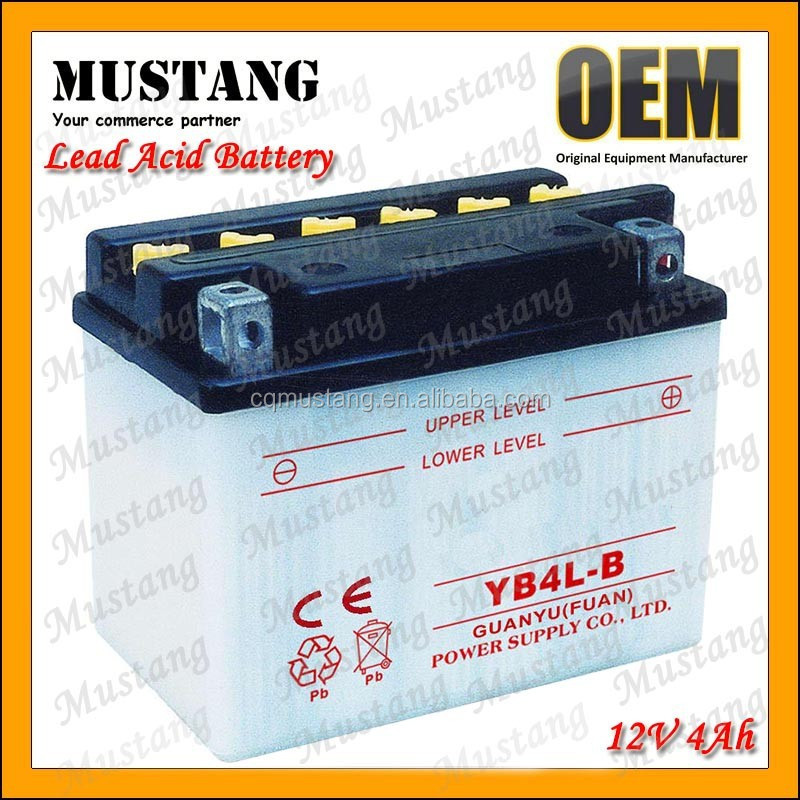 YB4L-B 12V 4Ah 10Hr Battery For Motorcycle Electrical System