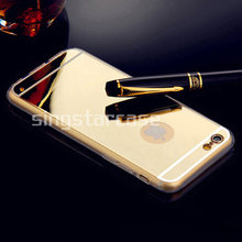 Gold Silver Gray Ultra Thin Soft TPU Phone Case Electroplated Mirror Case For iPhone 6 OEM Case