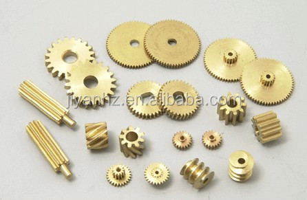 Best selling factory customized small brass pinion gears cnc machining parts nonstandard gears