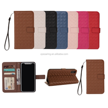 Knitting Design wallet leather case for iPhone X