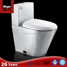 Stainless steel One Piece WC Water Saving Toilet Flush