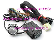 Button engine start /stop one way car alarm system