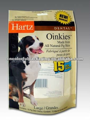 standing pouches/ Pet Food Packaging for dogs or cats/plastic container food packaging for pickle