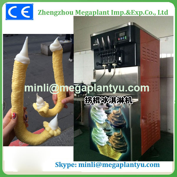 soft ice cream stick bar flilling machine
