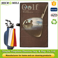 Outdoor mini microfiber golf towel, logo custom golf towel, microfiber sports towel