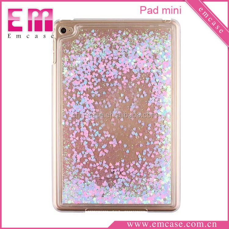 High Quality For iPad Mini Glitter Case/Quicksand Bling Plastic Hard Case For iPad Mini