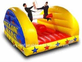 Wall to wall inflatable pillow wars games