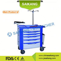 ISO9001&13485 Certification Comfortable Clinical Hospital Cart