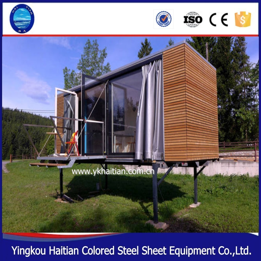 Economical two-storey wooden homes 20ft 40ft container rooms for sale prefab house granny flat log house europe