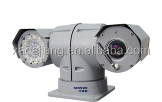 Vehicle auto tracking PTZ camera,360 degree continuous rotation, IR night version
