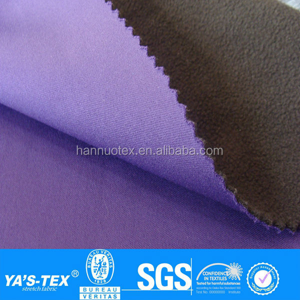 100D polyester fabric bonded polar fleece fabric for softshell jacket