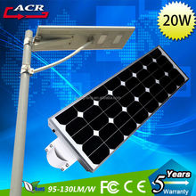 Latest adjustable solar panel led park light 20w 40w 60w all in one solar street light