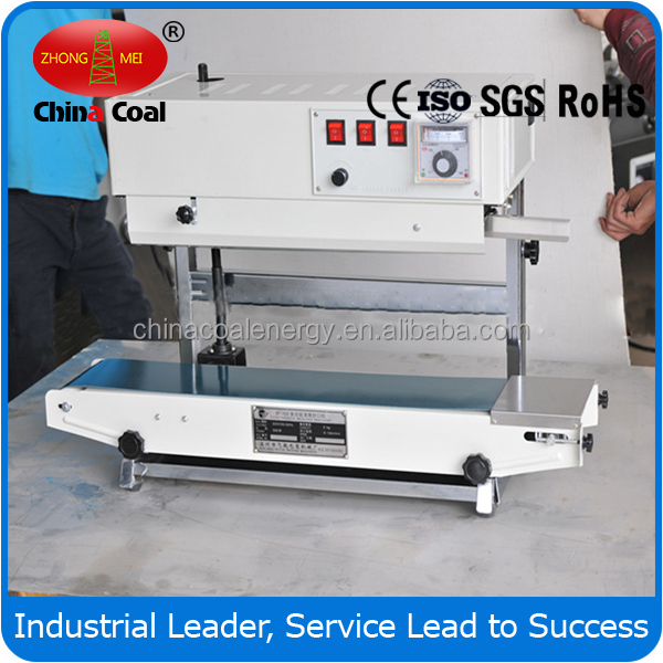 Vertical Horizontal Continuous heat sealer for aluminum foil plastic bags/plastic film heat band sealer with date coding