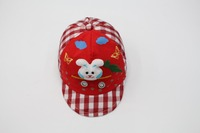 Printing snapback cap flat baby hat with rabbit