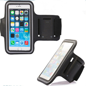 Factory Directly Supply Universal Adjustable Running Colorful Reflective Neoprene Phone Holder Waterproof Armband