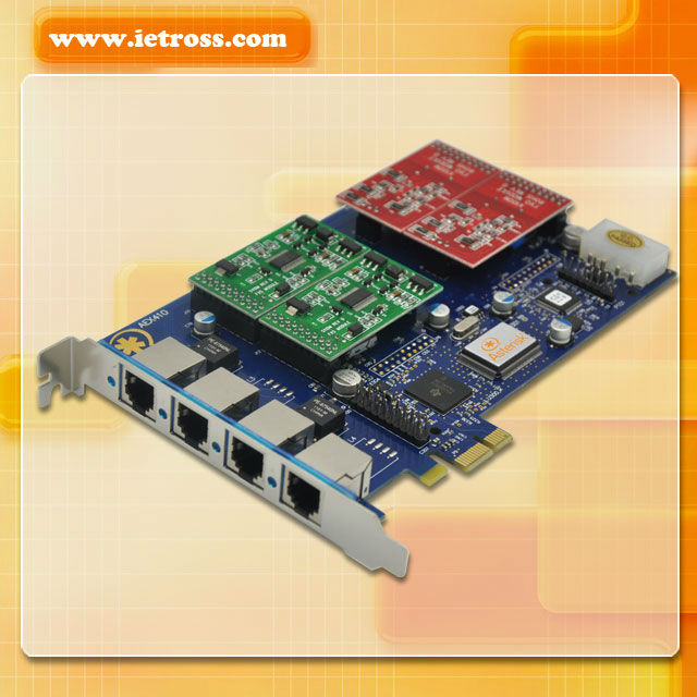 Analog AEX410P Asterisk card PCI Express card 4 FXS/FXO module