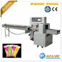 Ice lollipop wrapping machine ALD-250X Horizontal packing machine