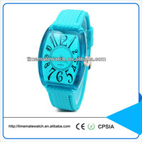 Customized Promotional Quartz interchangeable silicone strap watch