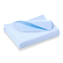 shaoxing factory wholesale cotton woven light blue unisex baby flat sheet