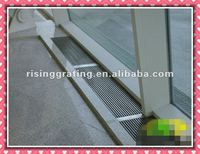 galvanized metal grating siding drainage cover