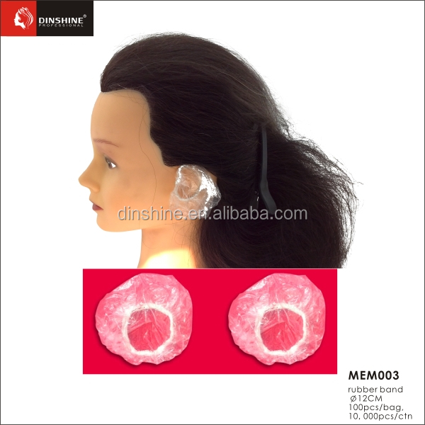 SPA beauty hair salon PE material clear disposable ear cover